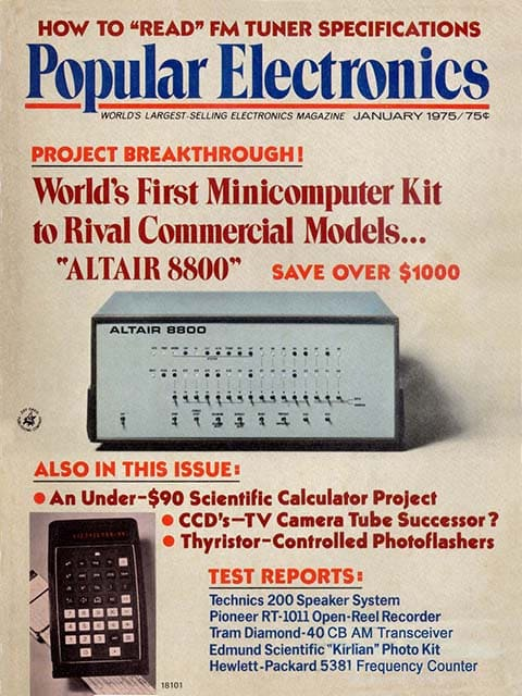 Обложка журнала Popular Electronics 1975 года