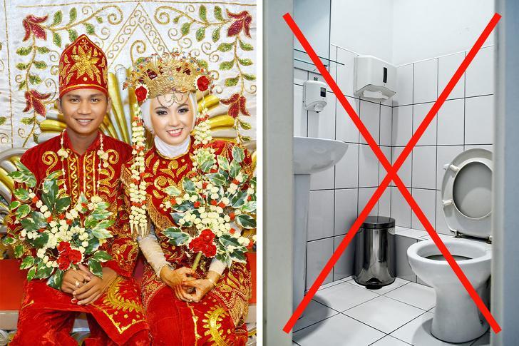 Никакой ванны после свадьбы в Индонезии