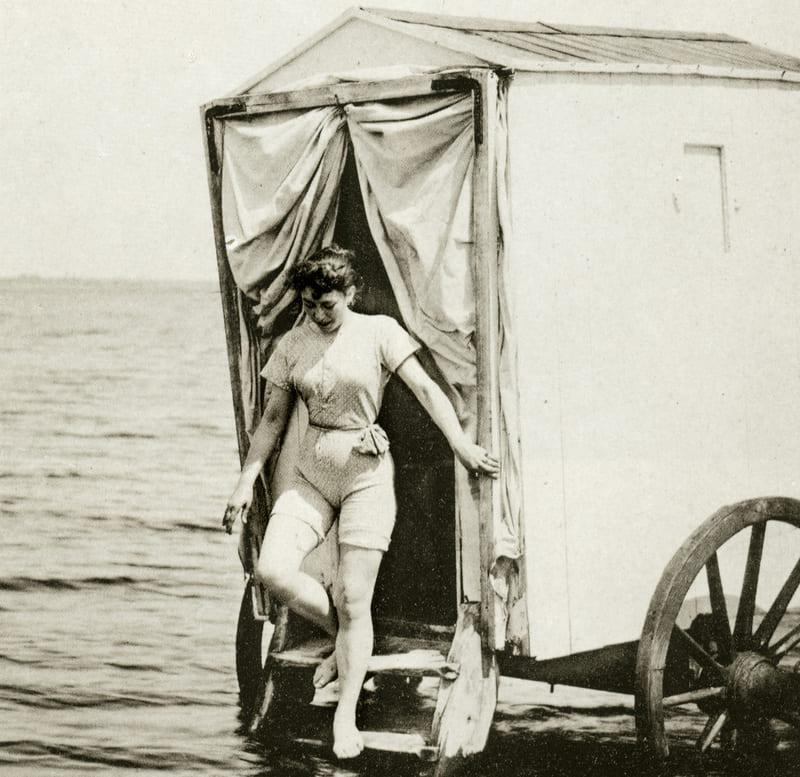 Как пользовались купальной машиной