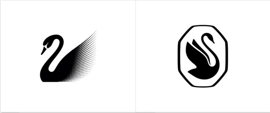 Слева логотип до обновления, справа после.